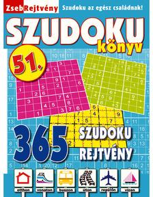ZsebRejtvény SZUDOKU Könyv 51