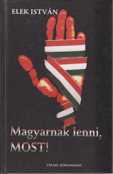 Elek István - Magyarnak lenni, most! [antikvár]
