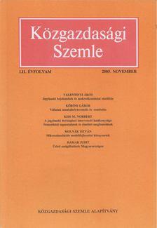 Szabó Katalin - Közgazdasági Szemle LII. évfolyam 2005. november [antikvár]