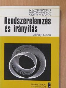 Jándy Géza - Rendszerelemzés és irányítás [antikvár]