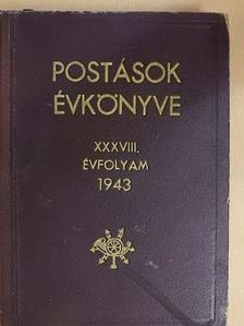Arató Béla - Postások évkönyve 1943. [antikvár]