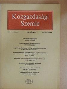 Bagó Eszter - Közgazdasági Szemle 1984. június [antikvár]