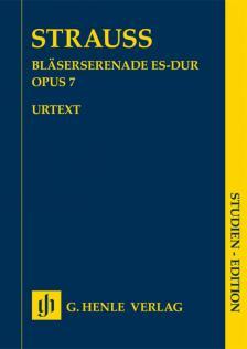 STRAUSS RICHARD - BLAESERSERENADE ES-DUR OP.7 STUDIEN EDITION