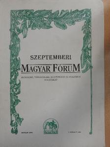 Bartók Zoltán - Szeptemberi Magyar Fórum 1993. [antikvár]