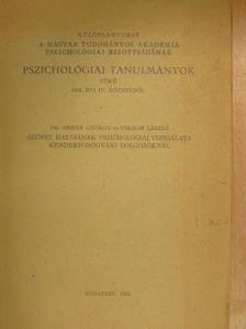 Dr. Geréb György - Szünet hatásának pszichológiai vizsgálata kenderfonógyári dolgozóknál [antikvár]