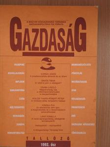 Bródy András - Gazdaság 1992. ősz [antikvár]