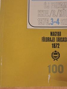 Dr. Havas Gáborné - Földrajzi Közlemények 1976/3-4. [antikvár]