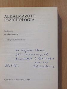 Bartha Lajos - Alkalmazott pszichológia (dedikált példány) [antikvár]