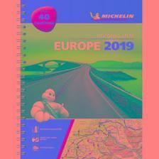 Michelin - Európa atlasz A4 spirál 1136 Michelin 2019