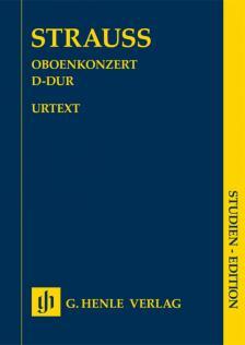 STRAUSS RICHARD - OBOENKONZERT D-DUR, STUDIEN EDITION