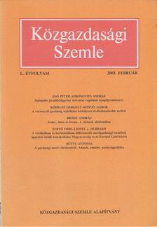 Szabó Katalin - Közgazdasági Szemle L. évfolyam 20033. február [antikvár]