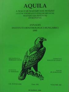 Bánhidi Péter - Aquila - A Magyar Madártani Intézet évkönyve 1995 [antikvár]