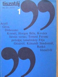 Aczél Géza - Tiszatáj 1986. január [antikvár]