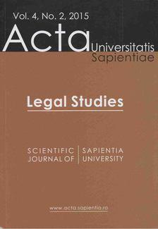 Nótári Tamás - Acta Universitatis Sapientiae Vol. 4, No. 2, 2015 [antikvár]