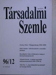 Farkas Péter - Társadalmi Szemle 1996. december [antikvár]
