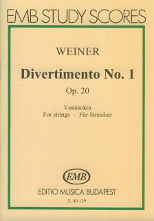 WEINER, LEO - DIVERTIMENTO NO.1 OP.20 VONÓSOKRA, KISPARTITÚRA