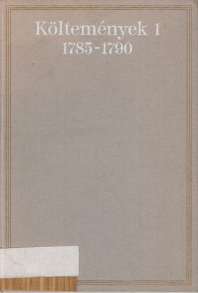 Csokonai Vitéz Mihály - Költemények 1. kötet 1785-1790 [antikvár]