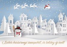 15151 - Képeslap borítékos aranyozott LC/6 karácsonyi K478