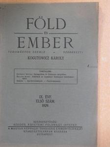 Balogh Albin - Föld és Ember 1929/1. [antikvár]