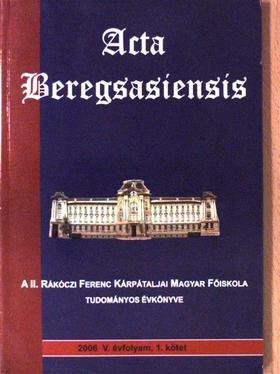 Csatáry György - Acta beregsasiensis 2006/1. [antikvár]