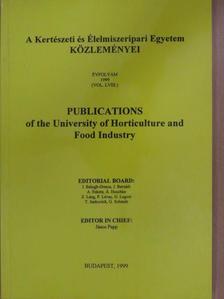 Ákos Szentgyörgyi - A Kertészeti és Élelmiszeripari Egyetem Közleményei LVIII. [antikvár]