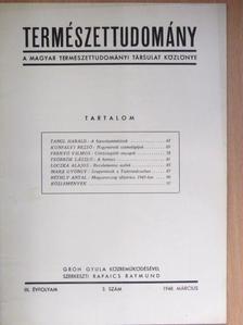 Frenyó Vilmos - Természettudomány 1948. március [antikvár]