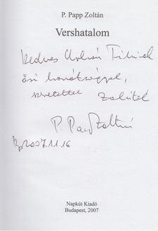 P. Papp Zoltán - Vershatalom (dedikált) [antikvár]