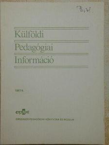Barkó Endre - Külföldi pedagógiai Információ 1987/4. [antikvár]