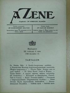 Dr. Kókai Rezső - A Zene 1938. december 15. [antikvár]