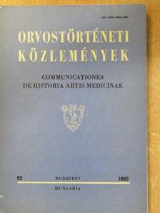 Farkas Judit - Orvostörténeti közlemények 92. [antikvár]