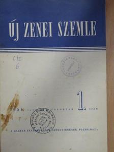 Bónis Ferenc - Új Zenei Szemle 1951. január [antikvár]