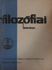 Fehér Márta - Filozófiai közlemények 1971/2. [antikvár]