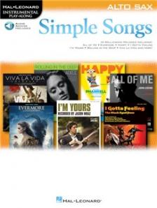 SIMPLE SONGS ALTO SAX. HAL LEONARD INSTRUJENTAL PLA-ALONG. AUDIO ACCESS INCLUDED