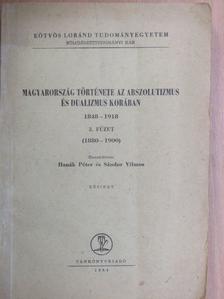 Katus László - Magyarország története az abszolutizmus és dualizmus korában 1848-1918. III. [antikvár]