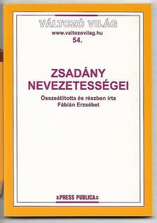 Fábián Erzsébet - Zsadány