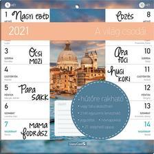 17336 - A világ csodái Hűtőmágneses naptár 2 heti - 2021