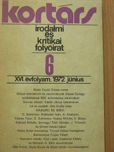 Agárdi Péter - Kortárs 1972. június [antikvár]