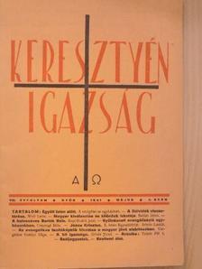 Balázs János - Keresztyén Igazság 1941. május [antikvár]