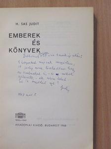 H. Sas Judit - Emberek és könyvek (dedikált példány) [antikvár]