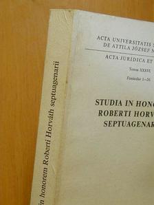 Alfred Sauvy - Acta Juridica et Politica Tomus XXXVI. Fasciculus 1-20. [antikvár]