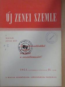 Asztalos Sándor - Új Zenei Szemle 1951. november [antikvár]