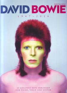 BOWIE, DAVID - DAVID BOWIE 1947-2016. 20 GREATEST HITS ARRANGED FOR PIANO, VOICE AND GUITAR