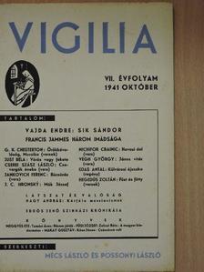 Cserei Szász László - Vigilia 1941. október [antikvár]