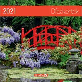 17272 - Díszkertek Falinaptár lemez nagy - 2021