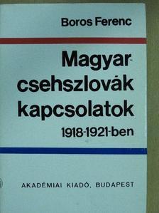 Boros Ferenc - Magyar-csehszlovák kapcsolatok 1918-1921-ben [antikvár]