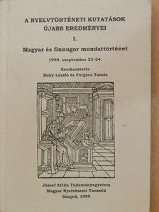 Bakró-Nagy Marianne - A nyelvtörténeti kutatások újabb eredményei I. [antikvár]