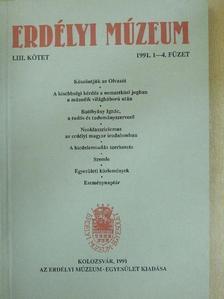 B. S. - Erdélyi Múzeum 1991/1-4. [antikvár]