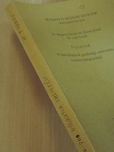 Dr. Harsányi István - Fejezetek az iparvállalatok gazdasági, szervezési, vezetési témaköréből [antikvár]