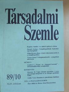 Ékes Ildikó - Társadalmi Szemle 1989. október [antikvár]
