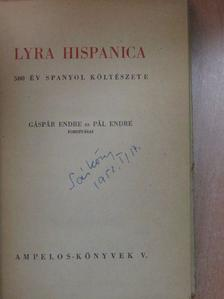 Angel de Saavedra - Lyra hispanica [antikvár]